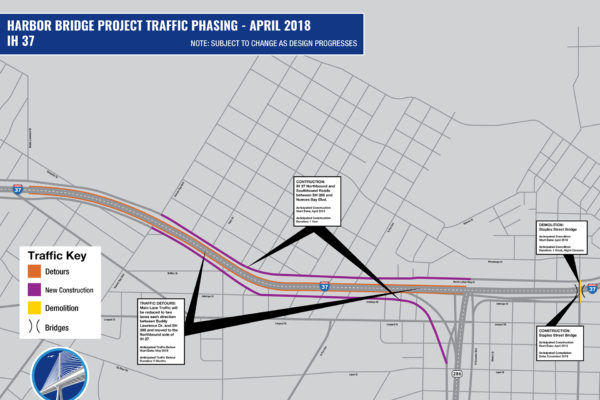 IH 37 Detour Map | April 2018