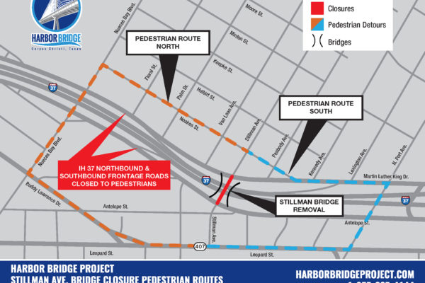 Stillman Bridge Pedestrian Routes Map | February 2018