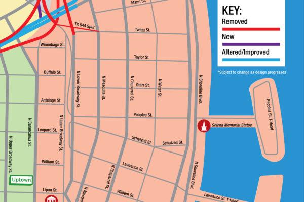 Harbor Bridge Project | Downtown Regional Map