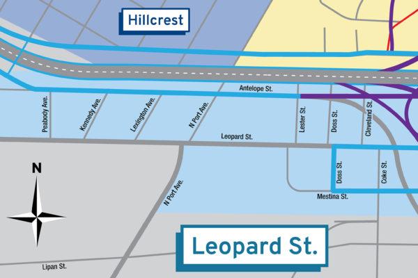 Harbor Bridge Project | Leopard St Regional Map