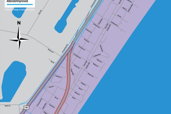 Harbor Bridge Project | North Beach Regional Map