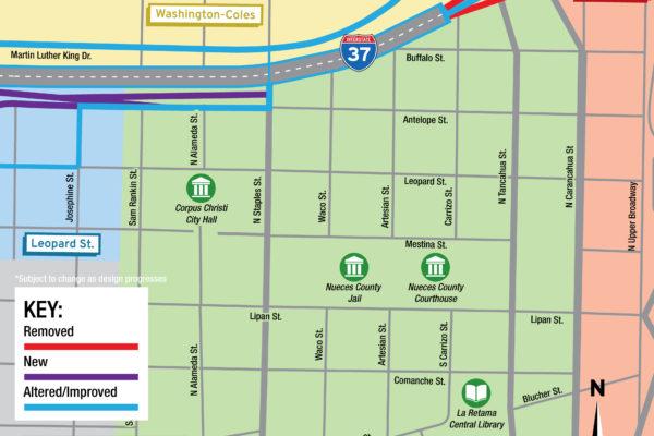 Harbor Bridge Project | Uptown Regional Map